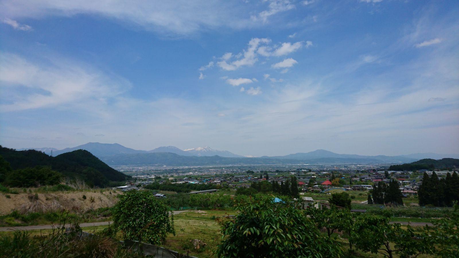 登山口付近からの眺め